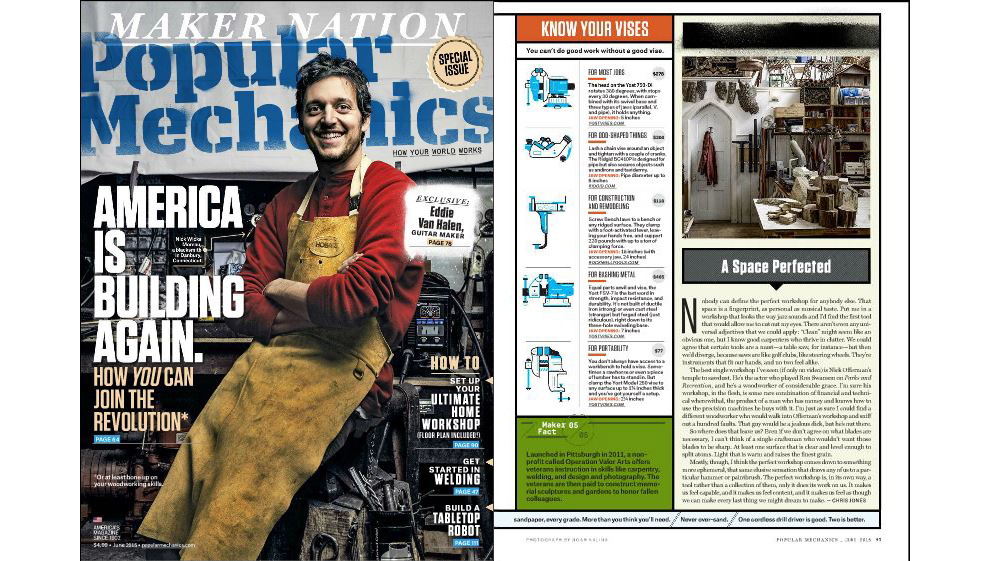 "Popular Mechanics ""Know Your Vises"" Features Rockwell BenchJaws 1"