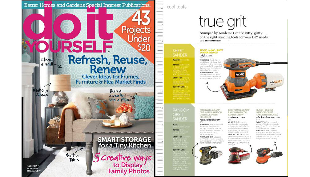 Rockwell Random Orbital Sander in Do It Yourself Magazine 1